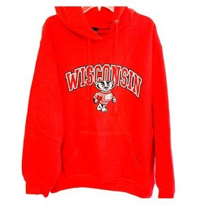 Wisconsin Badgers Sweater Hoodie, Size L